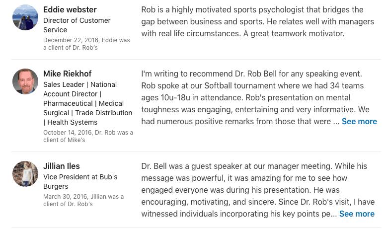 dr rob bell speaker