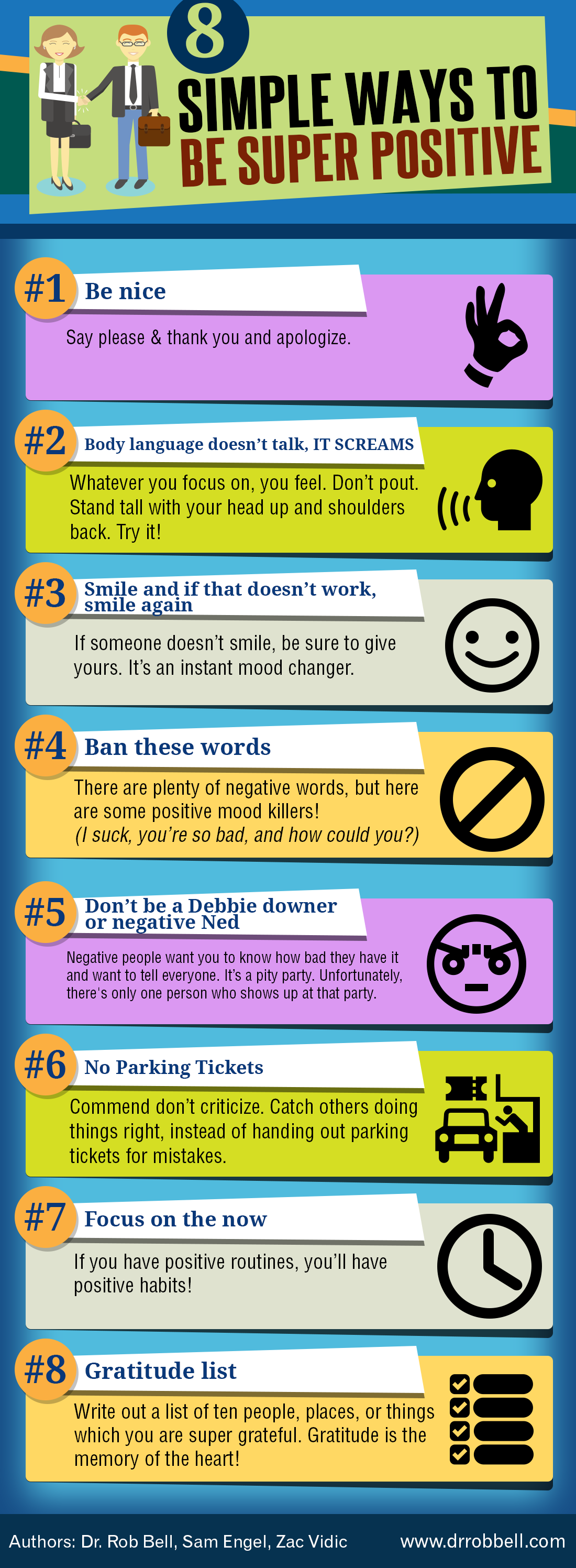 (INFOGRAPHIC) 8 Simple ways have a Positive attitude in the workplace.